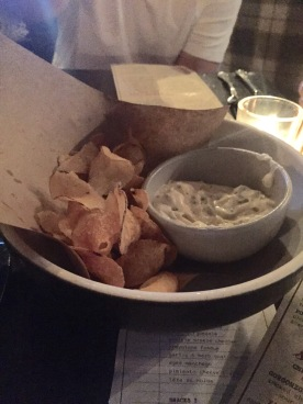 "House Made Chips w/""famous"" onion dip"